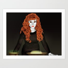 Rowena- the deadliest witch in the world. Art Print