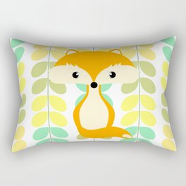 Fox and multicolored leaves Rectangular Pillow