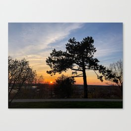 West End Sunset Canvas Print