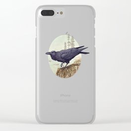 Raven of the North Atlantic Clear iPhone Case