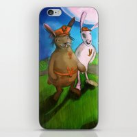rabbits iPhone & iPod Skins featuring Rabbits by András Balogh