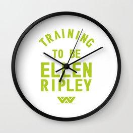 Training to be Ellen Ripley Wall Clock