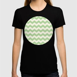 Summer Chevron Pattern in Green & Cream T-shirt