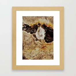 Herkimer Diamond in the rough Framed Art Print
