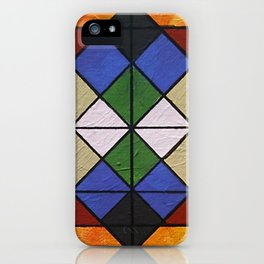 Tangram Number 6: Sunburst iPhone Case