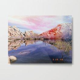 Joshua Tree Lake Metal Print