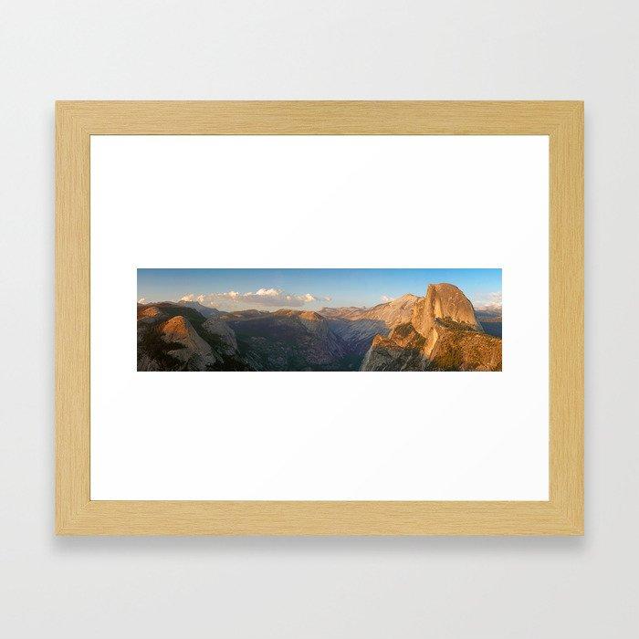 Glacier Point Panorama Framed Art Print