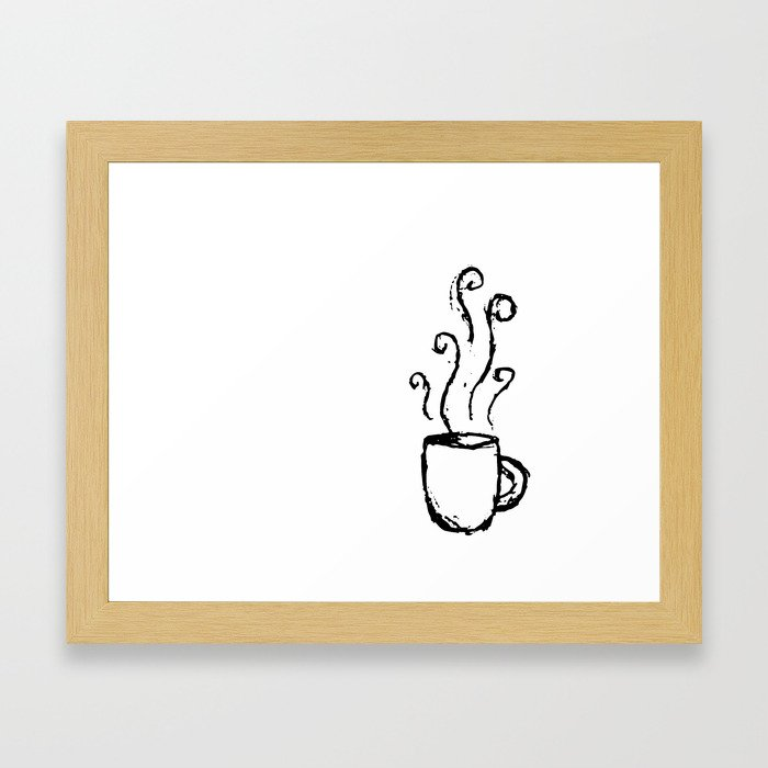 Morning Cup // Coffee Art Framed Art Print