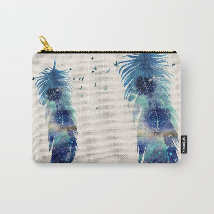 Feather Birds in Flight Carry-All Pouch