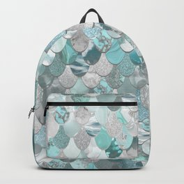 Mermaid Aqua and Grey Backpack