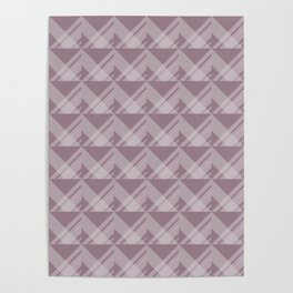 Modern Simple Geometric 5 in Musk Mauve Poster