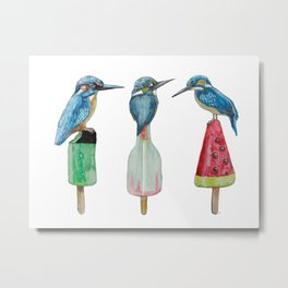 Kingfishes on popsicle Metal Print