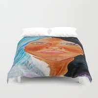 goddess Duvet Covers featuring GODDESS by KEVIN CURTIS BARR'S ART OF FAMOUS FACES
