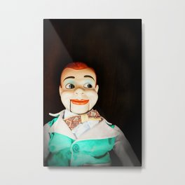 Creepy Dummy Metal Print