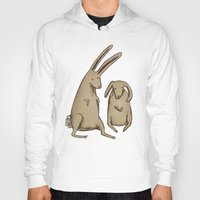bunnies Hoodies featuring Two Bunnies by Sophie Corrigan