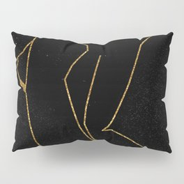 Gold Glitter Nude in One Line Pillow Sham