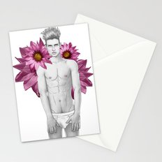 Boy & Flowers Stationery Cards