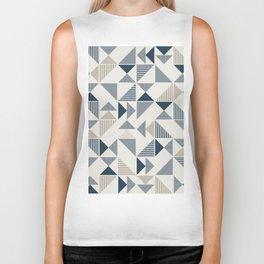 Abstract Geometric Triangle Pattern Biker Tank