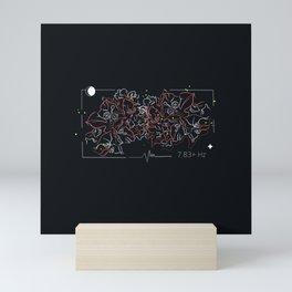 7.83 Hz (bougainvillea) Mini Art Print