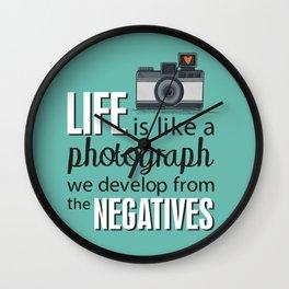 Camera Quote Wall Clock