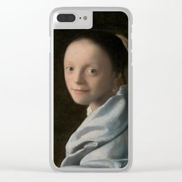 Study of a Young Woman by Johannes Vermeer Clear iPhone Case