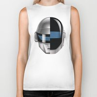 tron Biker Tanks featuring Daft Punk - Tron Legacy by Hayes Johnson