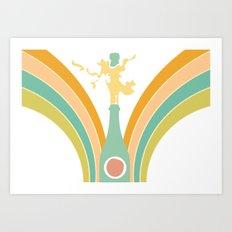 Poppin' bubbly! Art Print