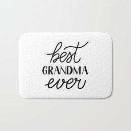 Best Grandma Ever calligraphy hand lettering  Bath Mat