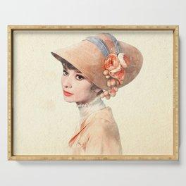 Audrey Hepburn - Eliza Doolittle - Watercolor Serving Tray
