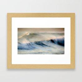 Waves at Cape Palliser, Wairarapa, New Zealand Framed Art Print