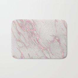 Marble Love Rose Gold Pink Metallic Bath Mat