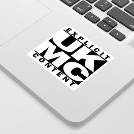 UK MC Explicit Content Sticker