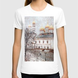 The Cathedral of the Dormition and Ivan the Great Bell Tower in the Moscow Kremlin T-shirt