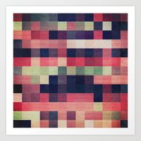 quilt Art Prints featuring quilt n2 by spinL