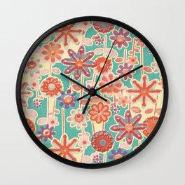 Motivo floral 2 Wall Clock