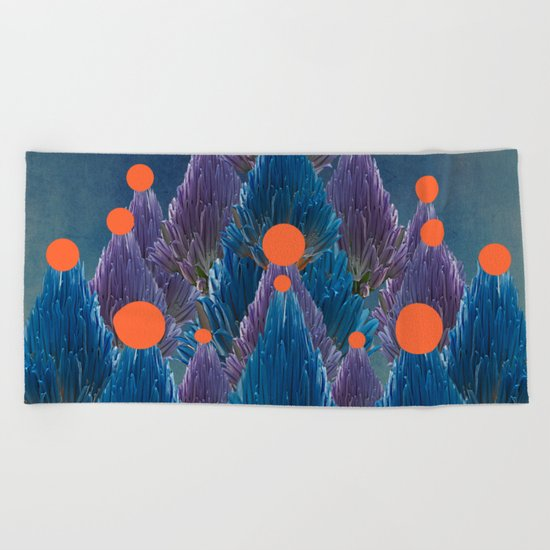 Floral abstract(49). Beach Towel
