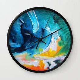 Oasis on Fire Wall Clock