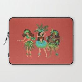 Luau Girls on Coral Laptop Sleeve