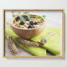 Healthy through the day with cereal Serving Tray