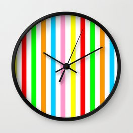 multicolor columns-mutlicolor,abstraction,abstract,fun,line,geometric,geometrical,columns, Wall Clock