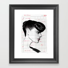 Fashion Hair with Ledger Flair Framed Art Print