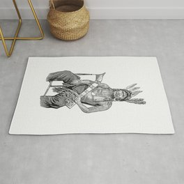 Native American man from The History of Benton County Iowa Rug