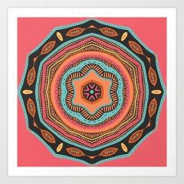 Dance Dance Mandala Art Print