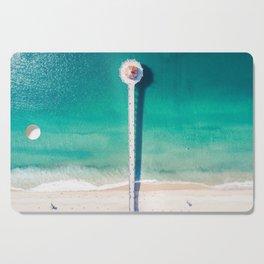 Aerial of Manhattan Beach pier Cutting Board