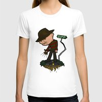 freddy krueger T-shirts featuring Freddy Krueger Cartoon by BJ Sizemore