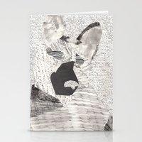 german shepherd Stationery Cards featuring German Shepherd Texture Collage by Amanda Powzukiewicz