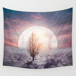 Hypnotized by the Moon Wall Tapestry