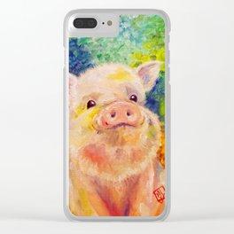 Zodiac - Year of the Piggie Clear iPhone Case