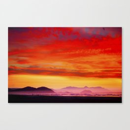 Sunset Colorful Canvas Print