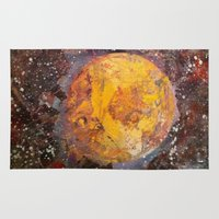 lunar Area & Throw Rugs featuring Lunar  by Evan Hawley